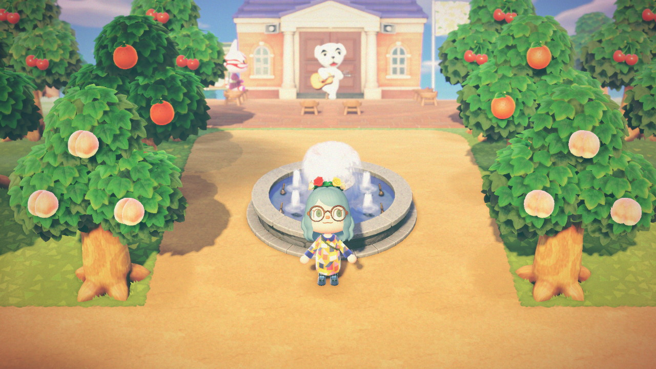 Fountain Outside In 2020 Animal Crossing New Animal Crossing Animal Crossing Game
