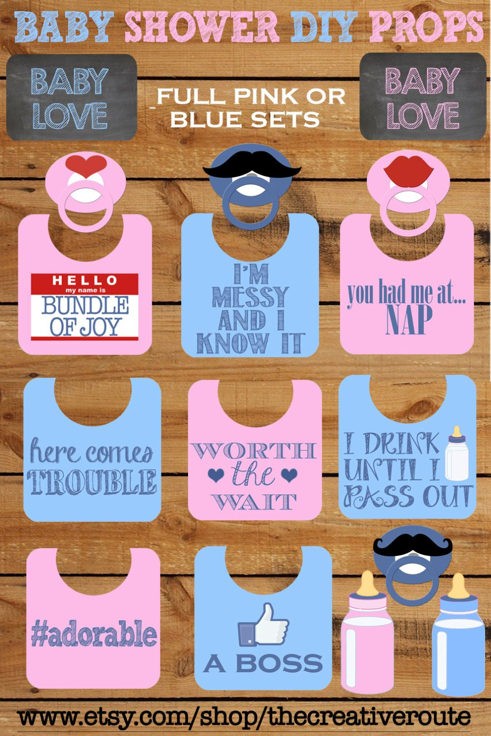 Baby Shower Gift Ideas Philippines : Baby shower photo booth props printable large by