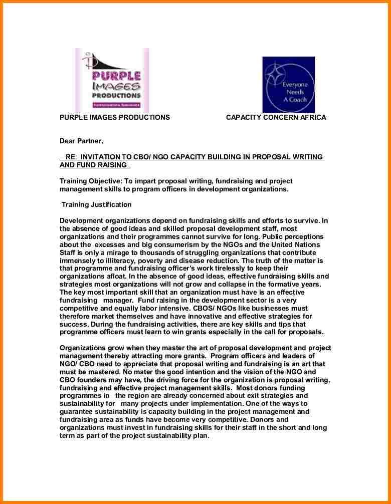 6 Fundraising Proposal Sample Proposal Template 2017 Proposal