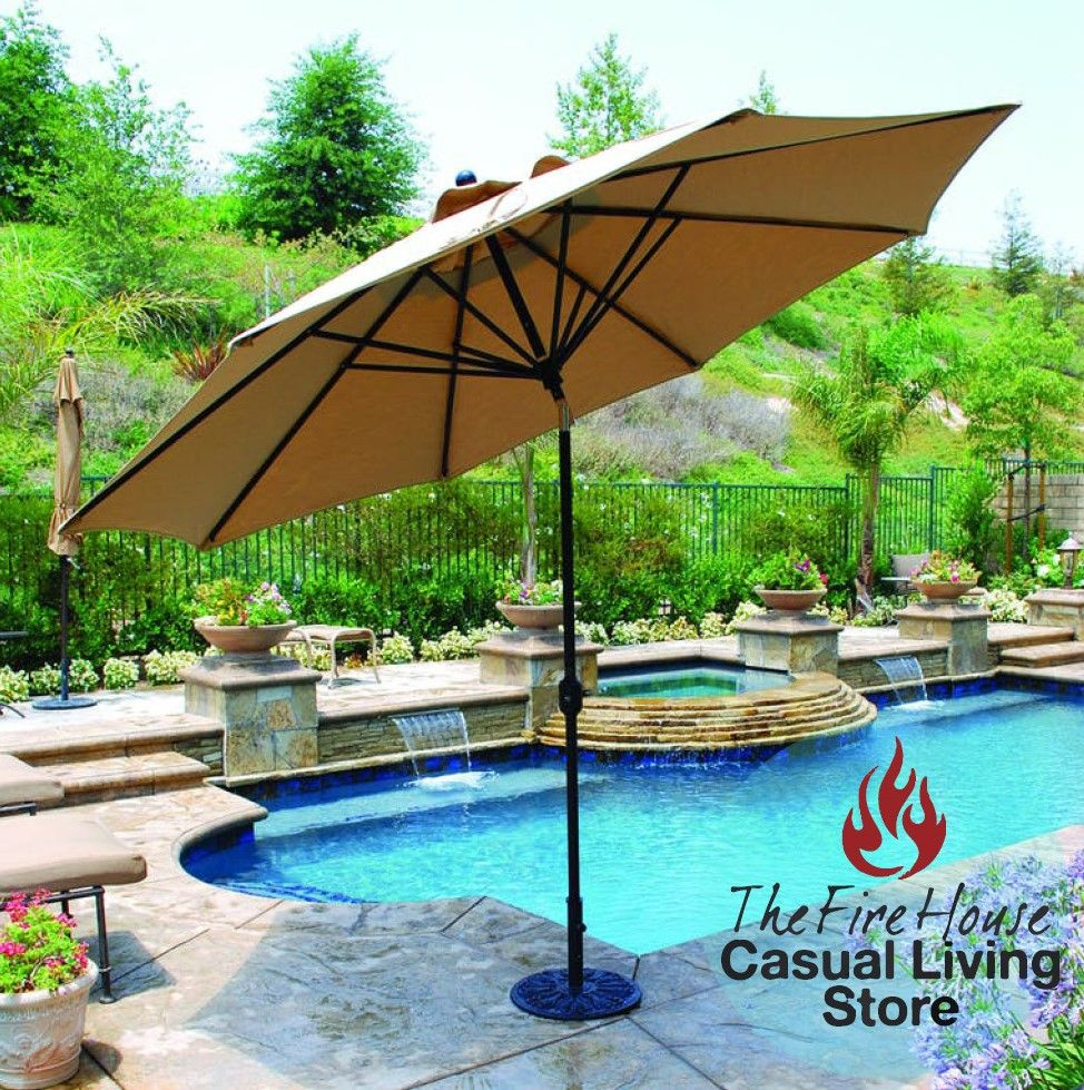 Fight Off Those Strong Sunrays And Sit Under A Huge Patio Umbrella! Perfect  For The