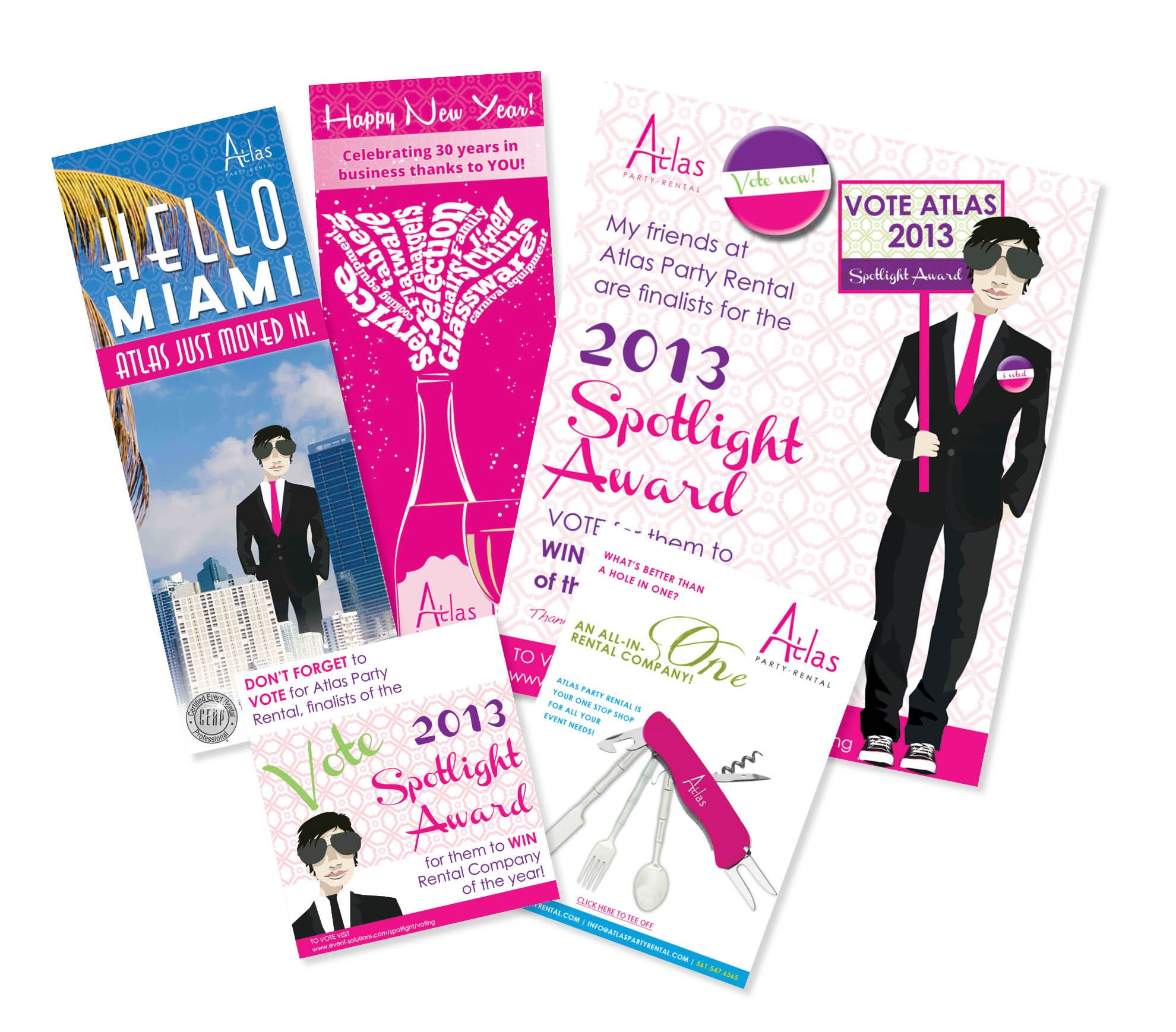 atlas party rental flyers partyrental party design event