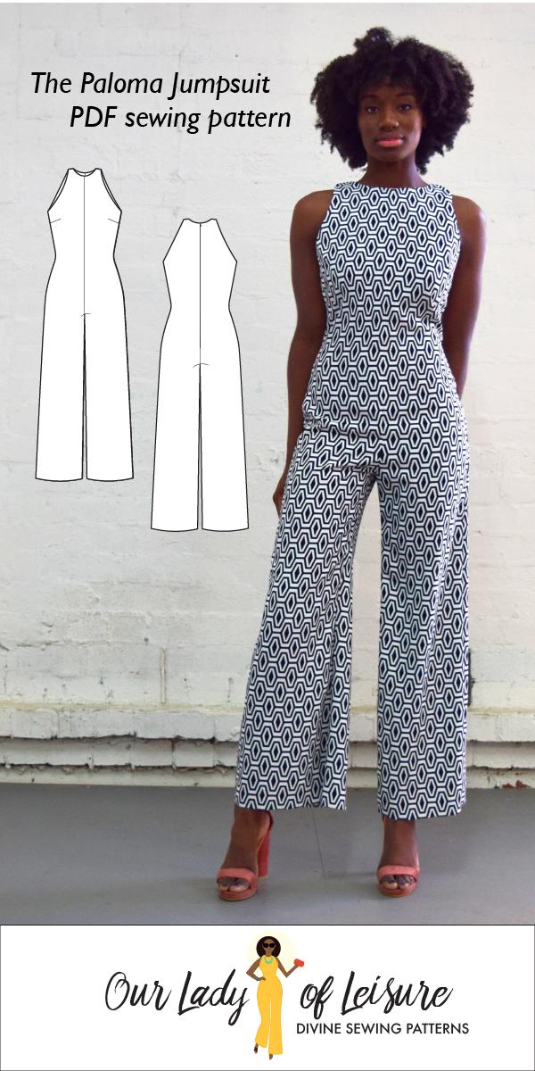 e5f664badc0 Paloma    Wide Leg Jumpsuit Pattern. Palazzo Jumpsuit for Beginner ...