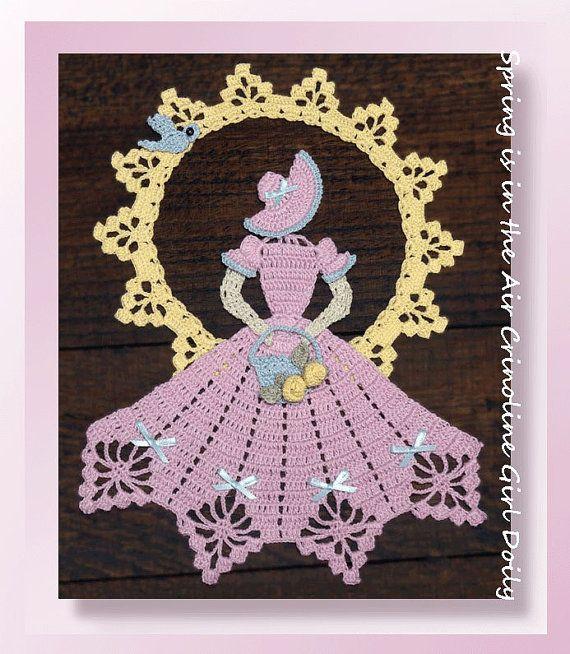 0740 primavera está en el aire crinolina chica tapete de | dama ...