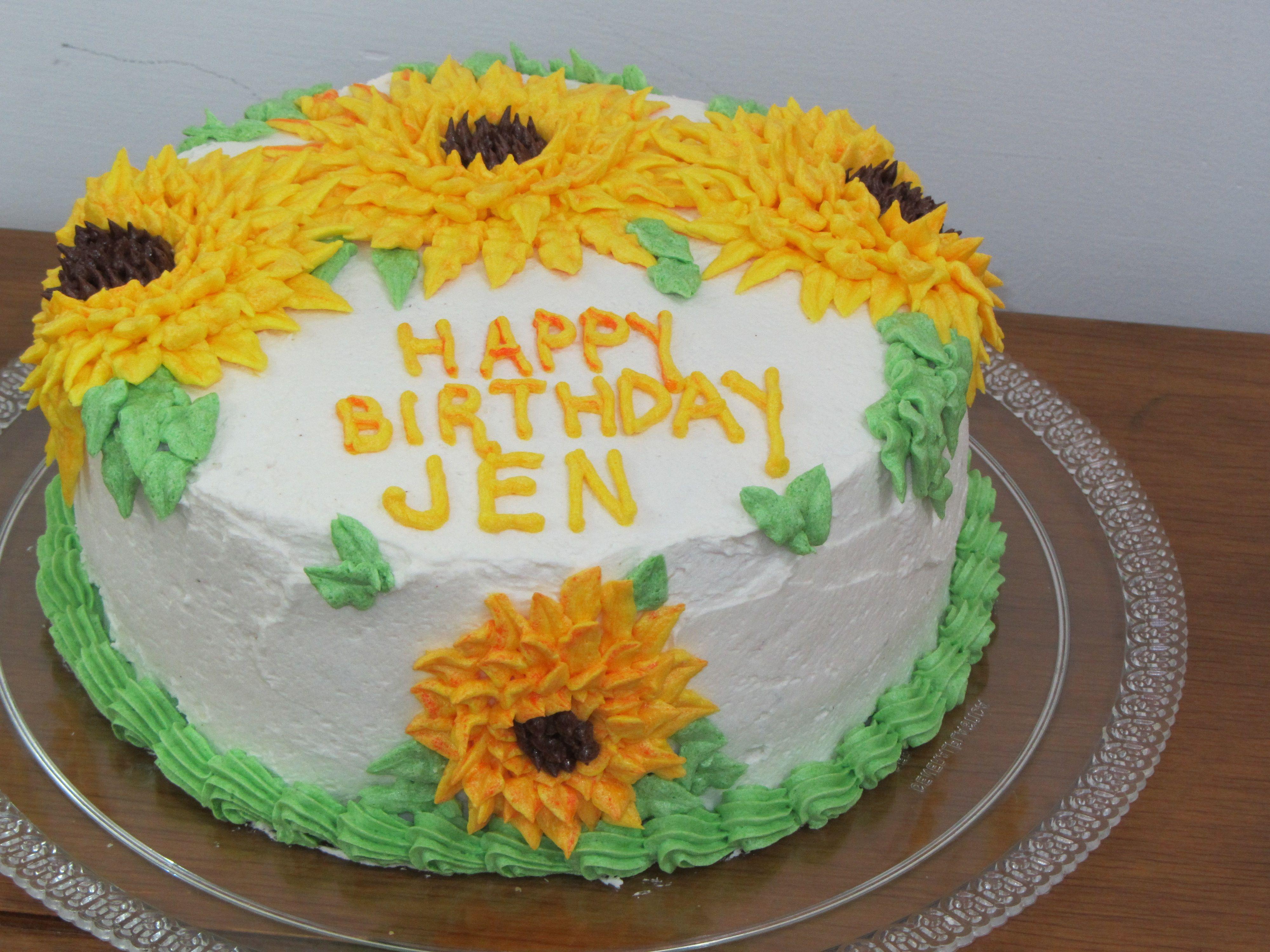 Enjoyable Sunflower Cake Sunflower Cakes Cake Gift Cake Personalised Birthday Cards Arneslily Jamesorg