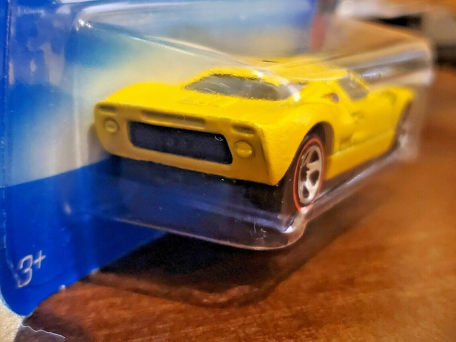 (eBay link) 2005 Hot Wheels RED LINES series 2/5 yellow FORD Shelby GT-40 moc 2/5 Nice! $0.99