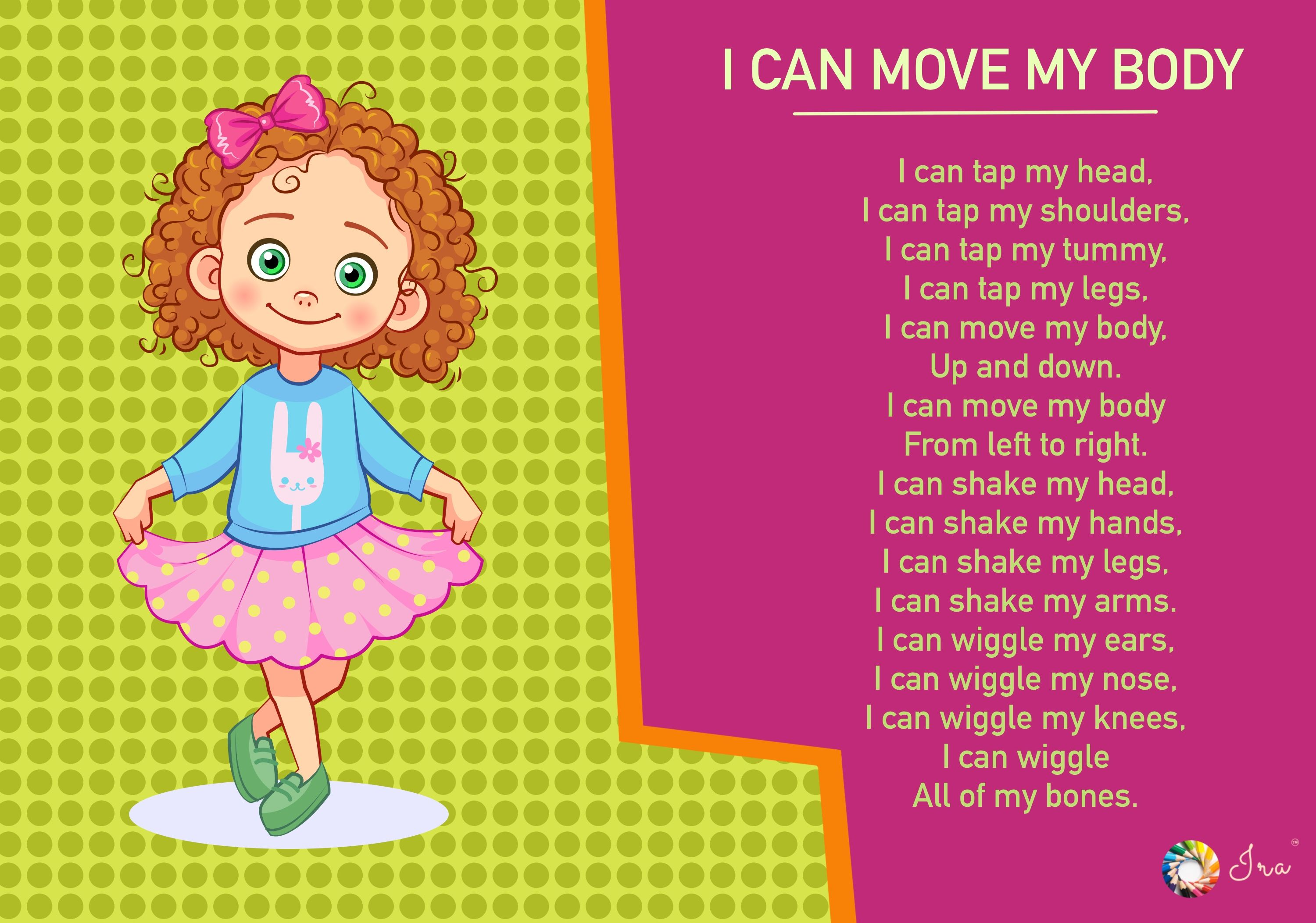 Pin On Body Parts Rhymes For Toddlers