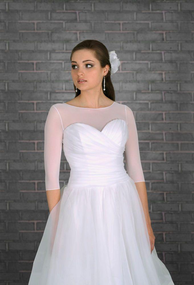 NEW Bridal Ivory/White/Black Tulle Bolero Shrug Wedding Jacket S/M ...