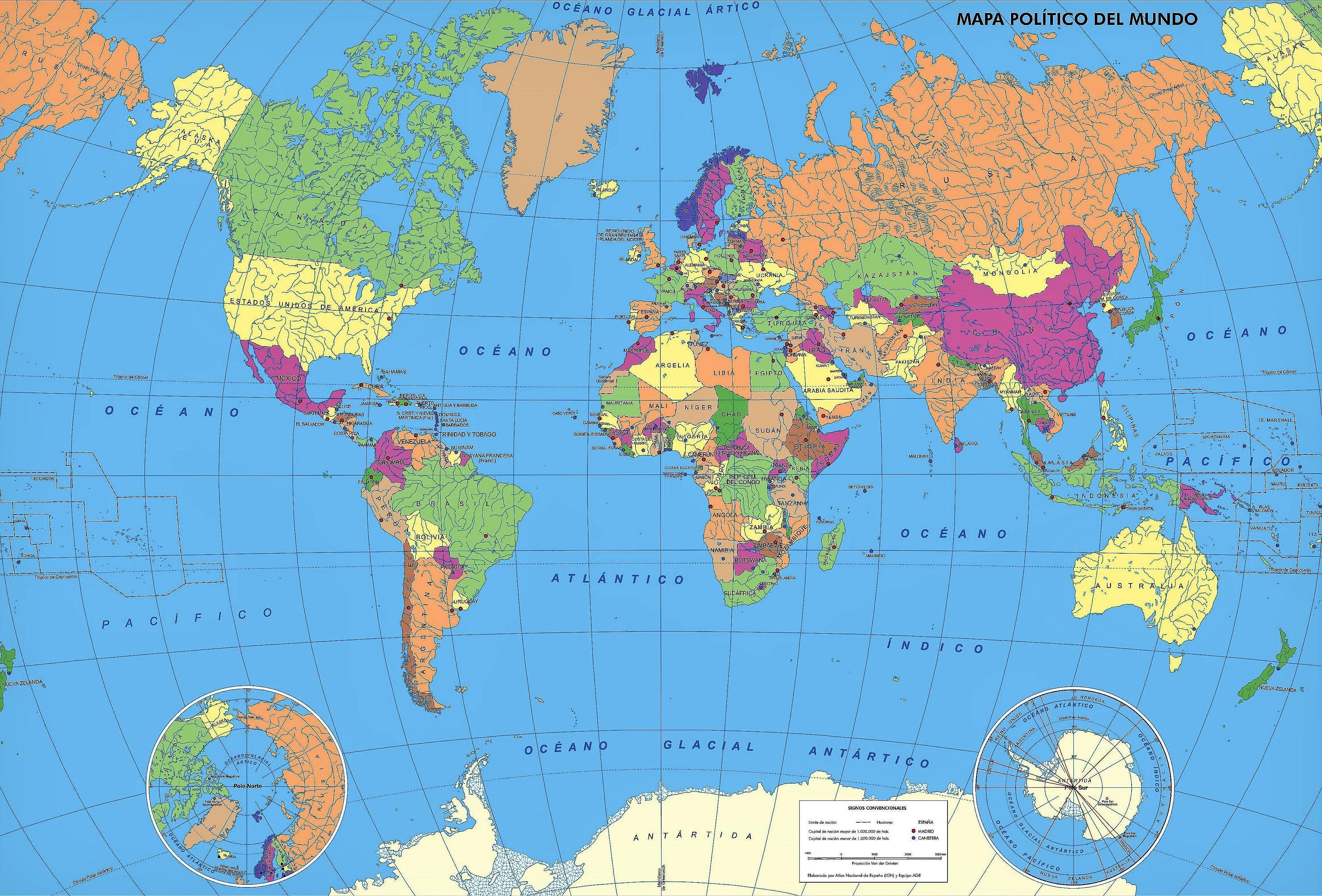 Unmistakable El Mapa Mundi Politico Mapa Mundi Con Sus Respectivos
