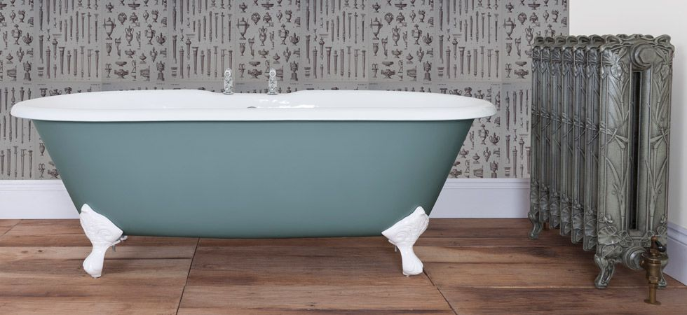 Cast Iron Baths - The Bisley - Painted Farrrow & Ball Oval Room Blue ...