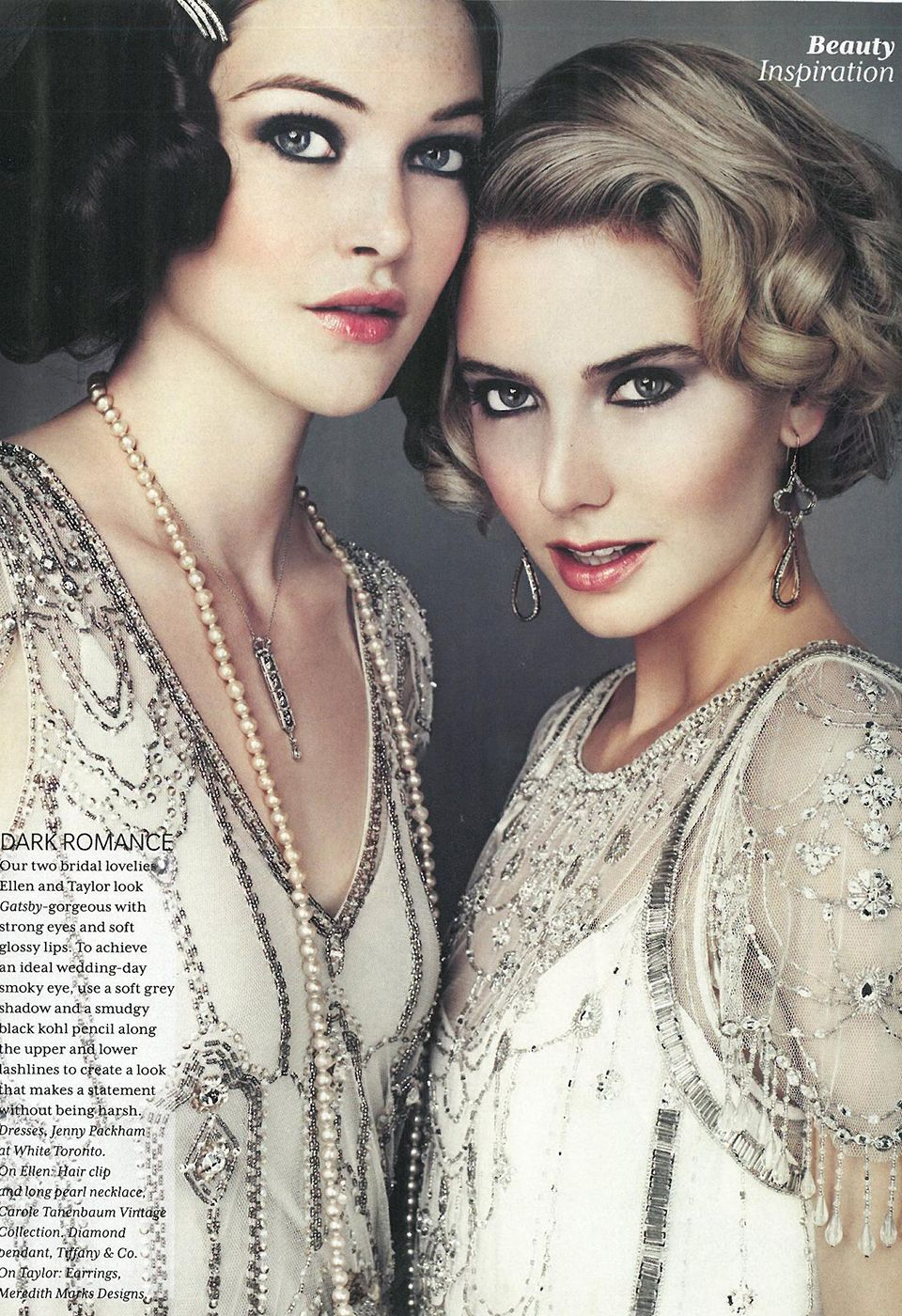 Great gatsby inspired bridesmaid dresses  EDEN u DAMASK PUBLICATION WEDDING BELLS nnypackham