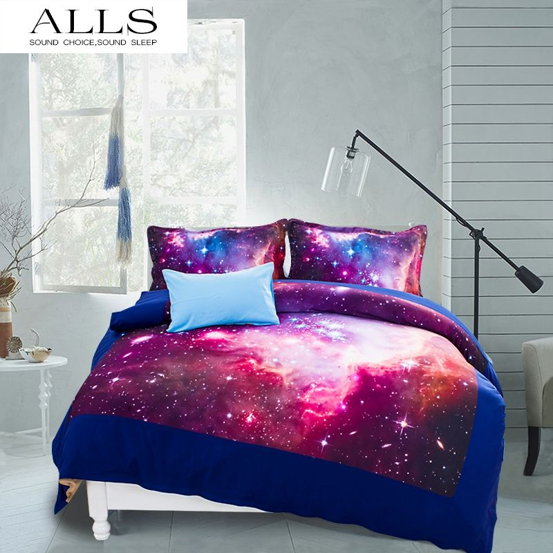 Novel Gift Galaxy Bed Set Colorful Moon And Stars Gorgeous Unique Design Quanlity Limited Outer E