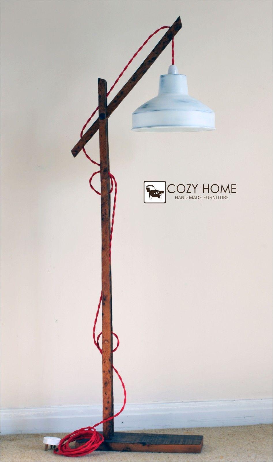 Vintage wooden stand lampfloor lamp standing floor lamp ebay vintage wooden stand lampfloor lamp standing aloadofball Gallery
