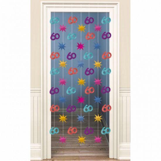Vrolijk deurgordijn 60 jaar gekleurd decoratie for Decoratie 60 jaar