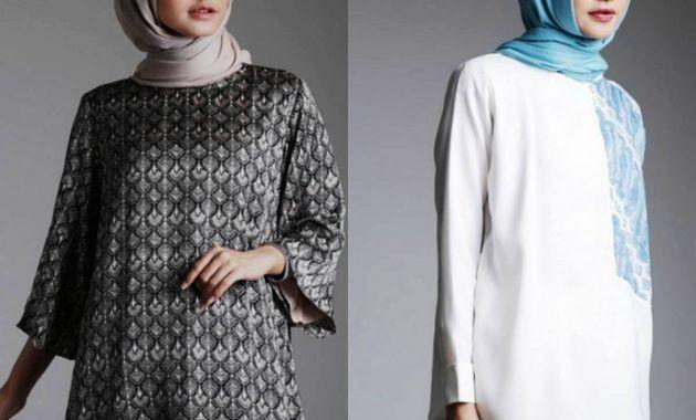 Model Baju Batik Kantor Wanita Berjilbab Terbaru Wanita Model Kemeja