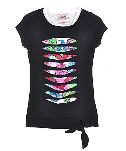 Beautees Hacienda T-Shirt  Sizes 4 - 6X  - black  6From #Beautees Price: $6.99 Availability: Usually ships in 24 hoursShips From #and sold by COOKIESKIDS
