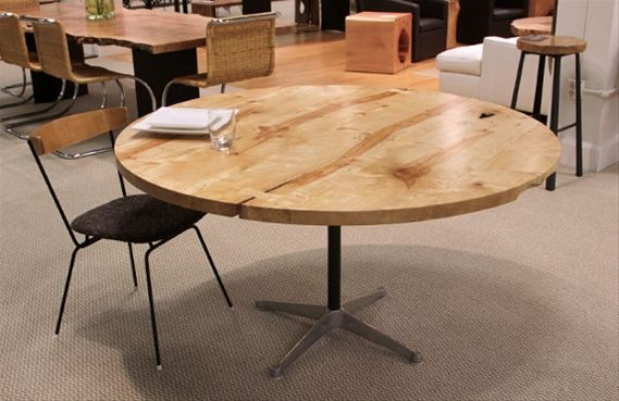 Salvaged Wood Furniture, Cool Round Table