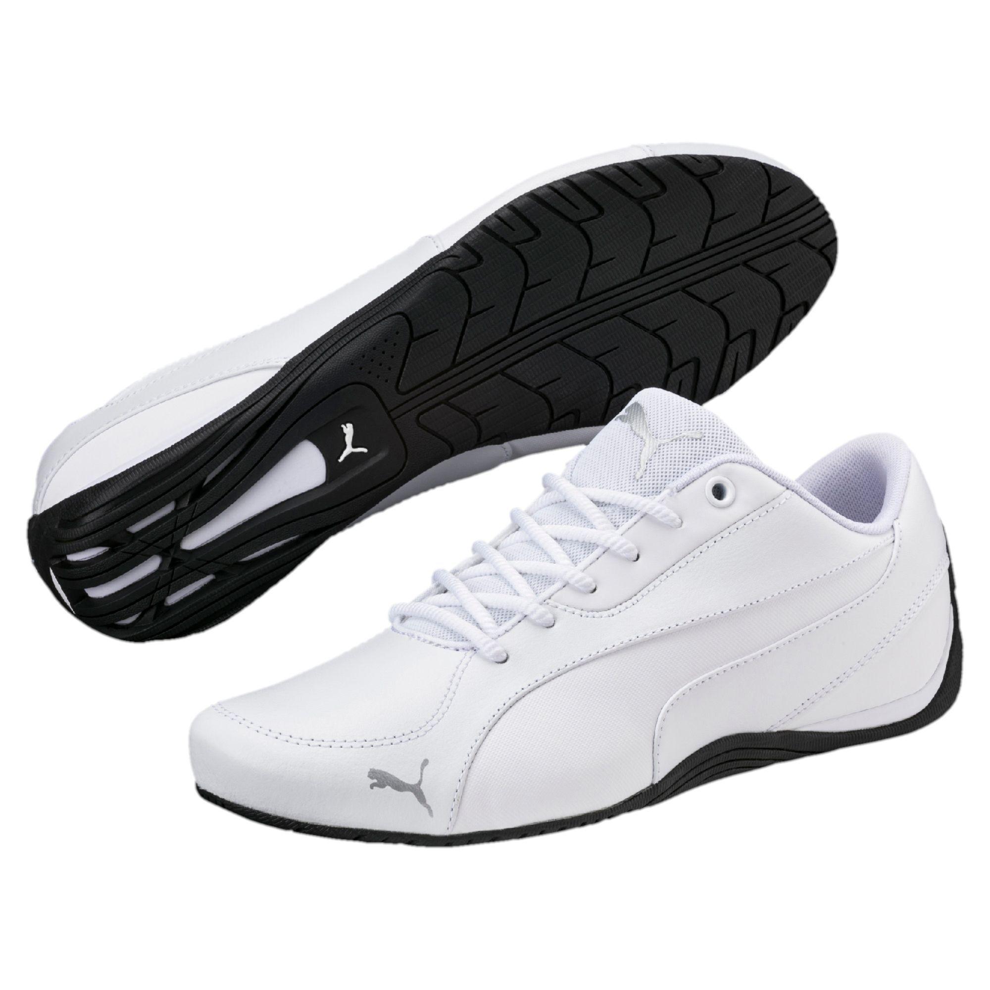 Buty Meskie Puma Model Drift Cat 5 Core W Kolorze Bialym Z Cczarna Podeszwa Pochodza Z Najnowszej Kolekcji Wykonano Running Shoes For Men Puma Shoes Mens