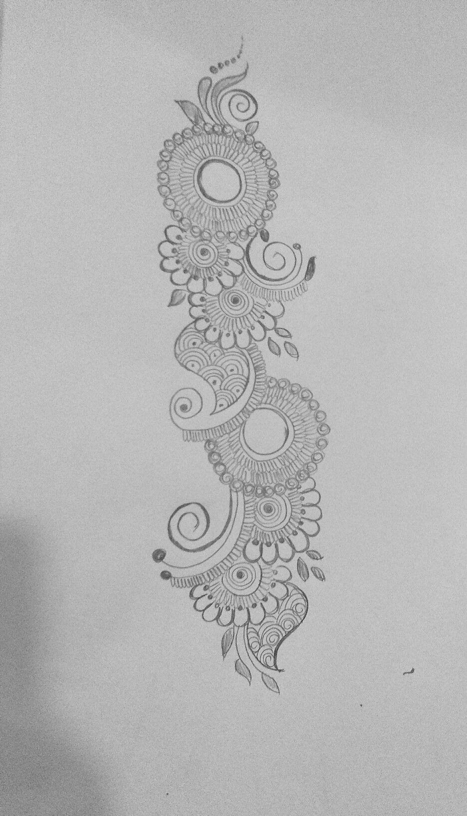 mehndi designs for beginners on paper
