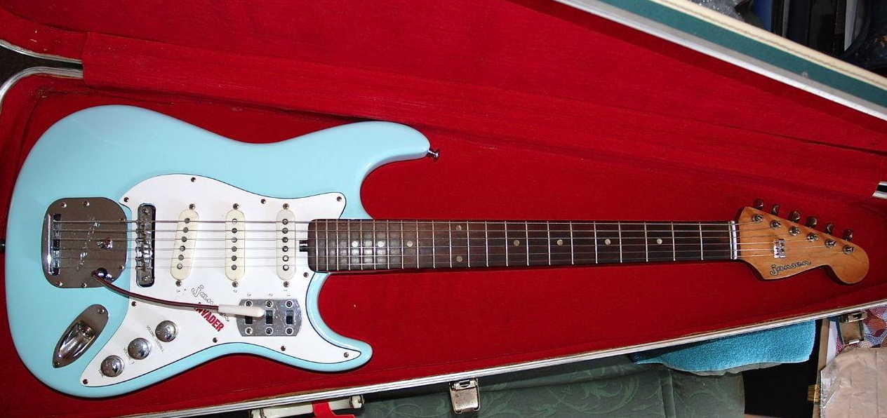 1960 S Jansen Invader Made In Nz Like A Strat And A Jag Had A Baby Guitar Electric Guitar Jansen