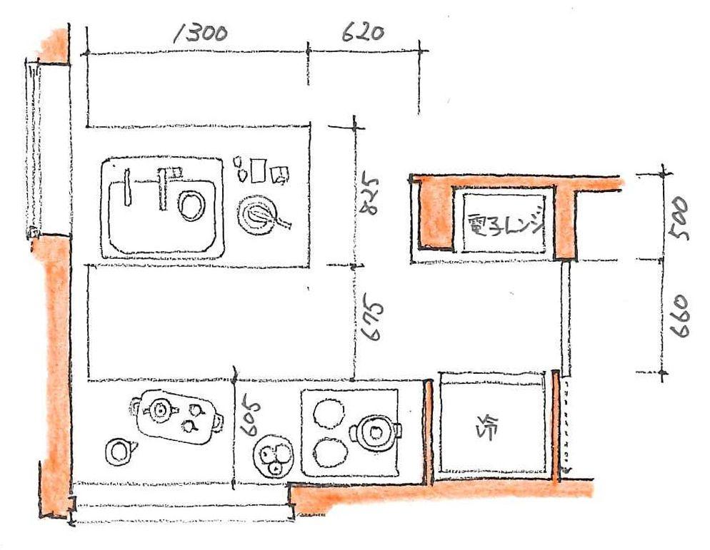 第五回 キッチン 間取りづくりの手引き すむすむ Panasonic L型キッチン キッチン間取り レイアウト