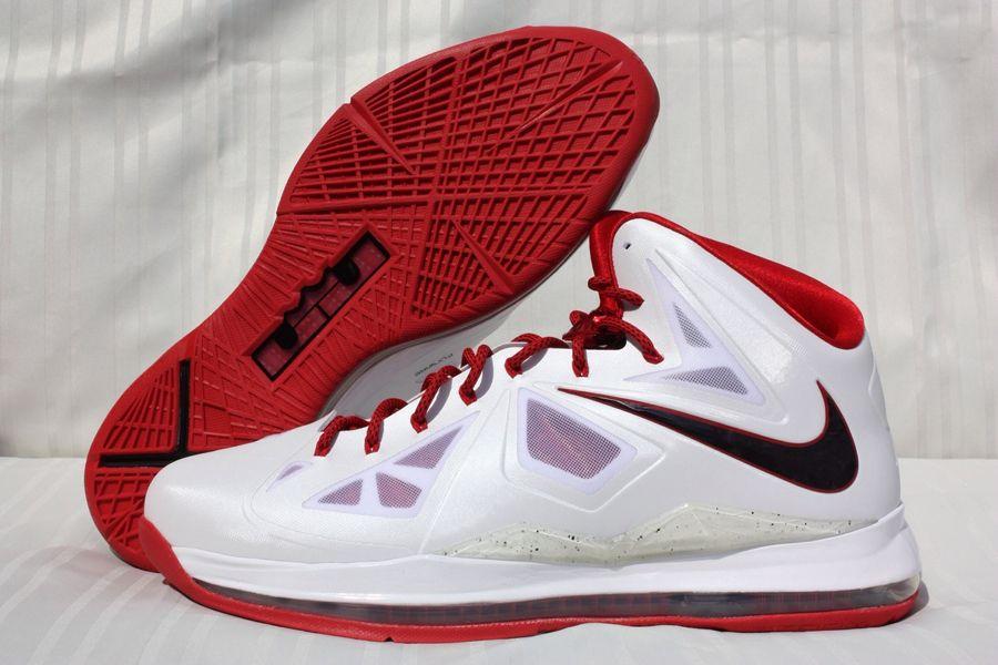 0558cb352c4 Nike LeBron X - Unreleased White Red Promo Sample - SneakerNews.com ...