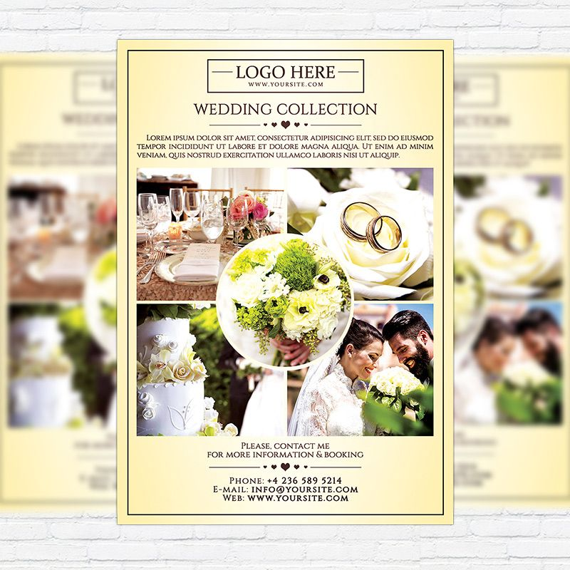 Wedding Photography - Premium Flyer Template http\/\/exclusiveflyer - wedding flyer