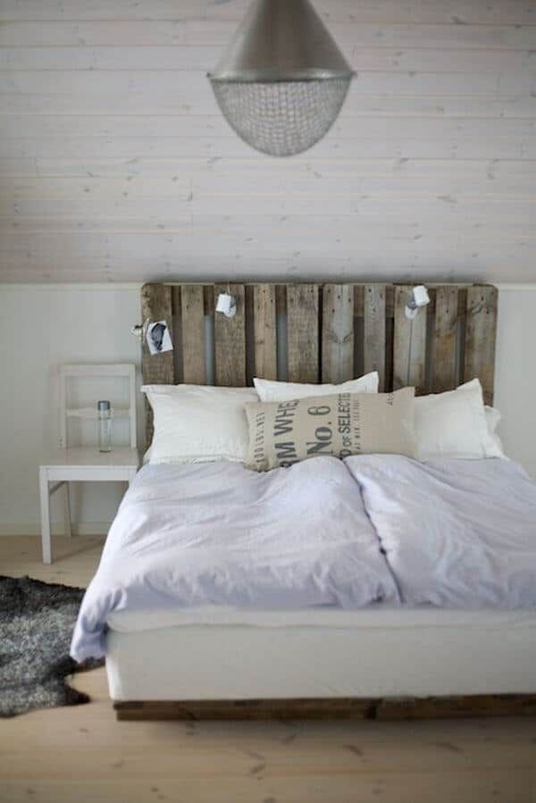Hochwertig DIY Bett: Kopfteil Selbst Bauen Aus Paletten