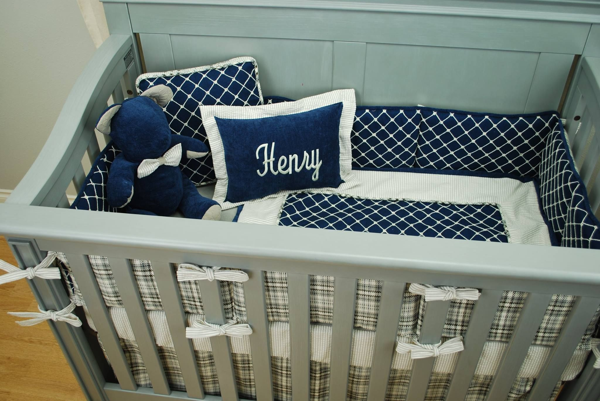 nautical graceful pictures crib comforter nursery cribs set stunning baby decor little twin sailboat plaid furniture piece bedding