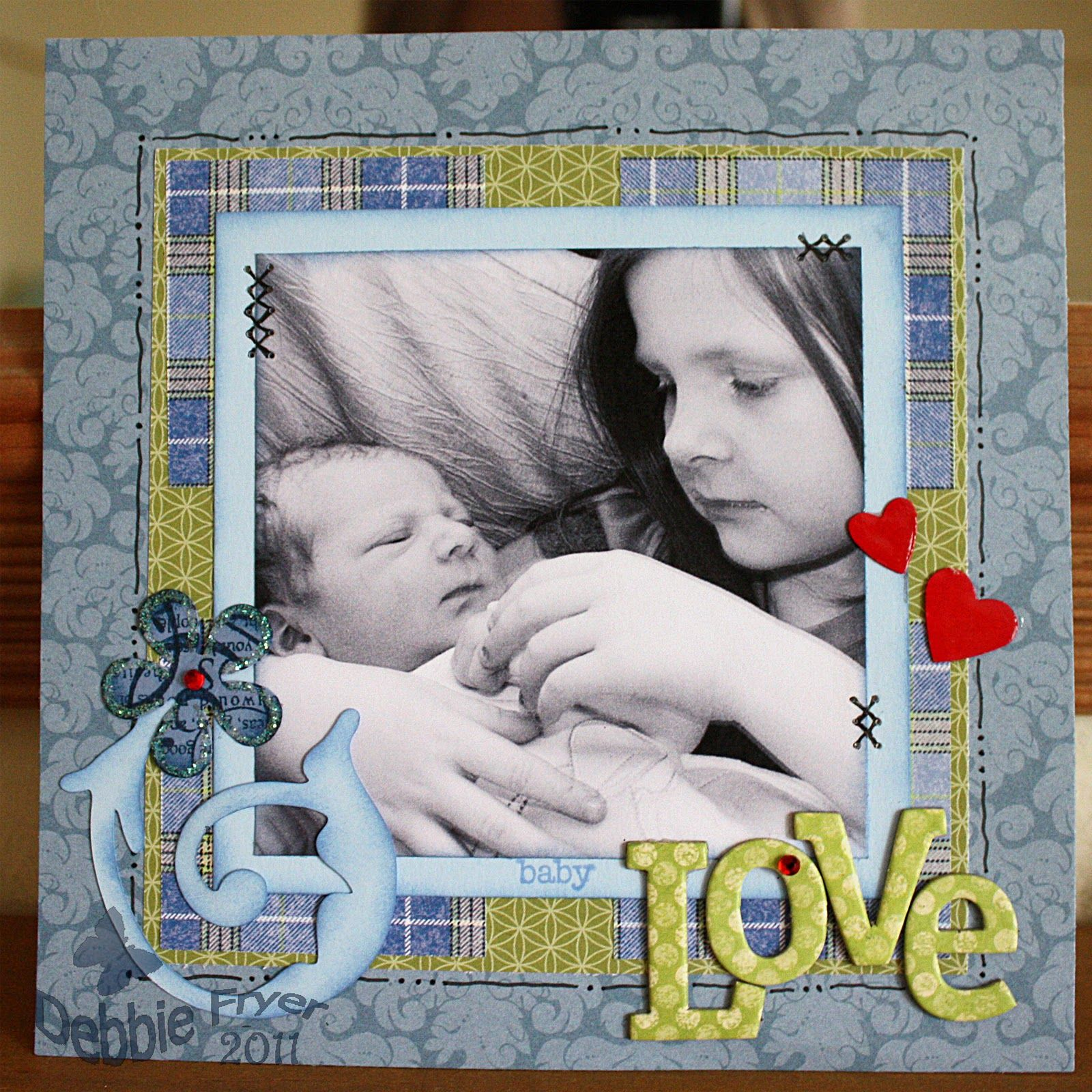 Baby boy scrapbook layout ideas scrapbooking baby for Baby boy picture ideas