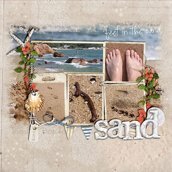 I love the whole page about feet and the sand!