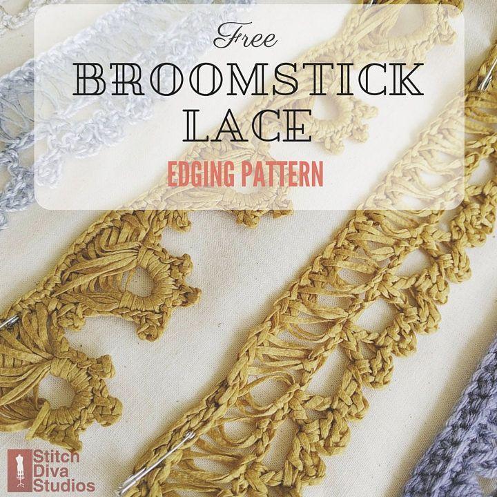 free broomstick lace edging pattern | Crochet | Pinterest ...
