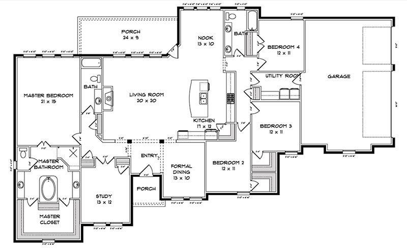 3 Car Garage Floor Plans