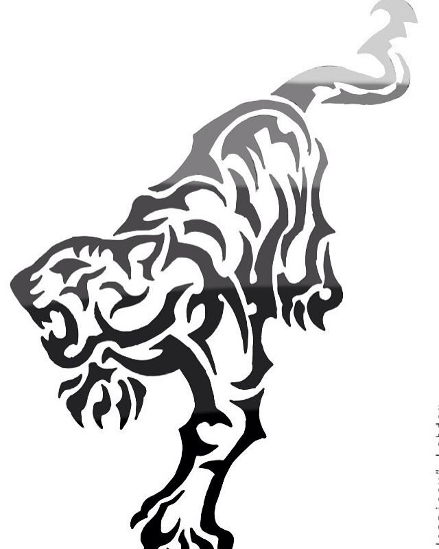 The Badass Black Tiger Risunki Eskiz Shablony Trafaretov