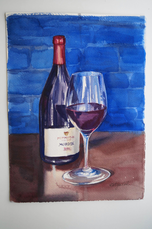 Originalogiginal watercolor painting watercolor still
