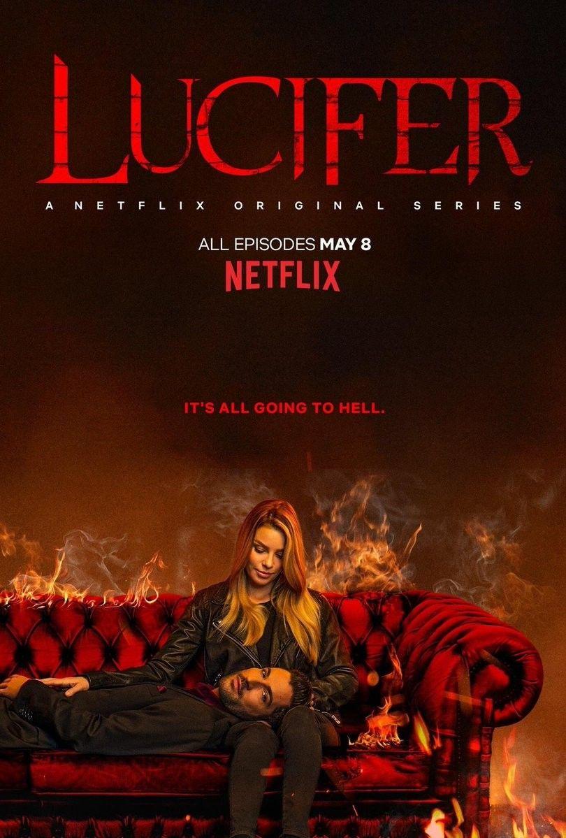 lucifer netflix season4 poster em 2020 Netflix