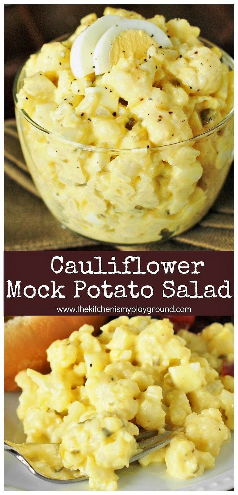 Photo of Cauliflower Mock Potato Salad ~ a full-of-flavor lower-carb version of our belov…