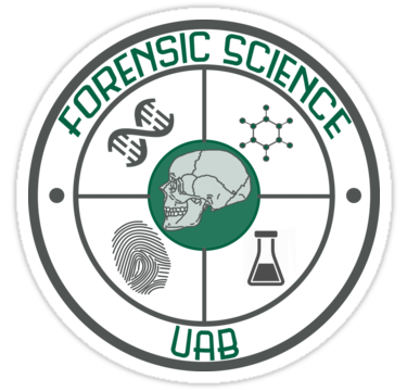 Forensic Science Uab Logo Sticker By Hannersgab In 2020 Forensic Science Forensics Logo Sticker