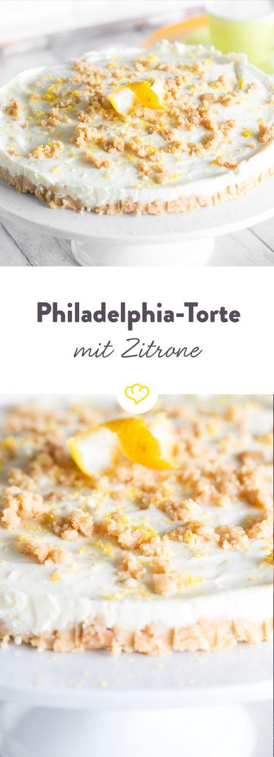Fur Deinen Kuchensommer Philadelphia Torte Mit Zitrone Rezept