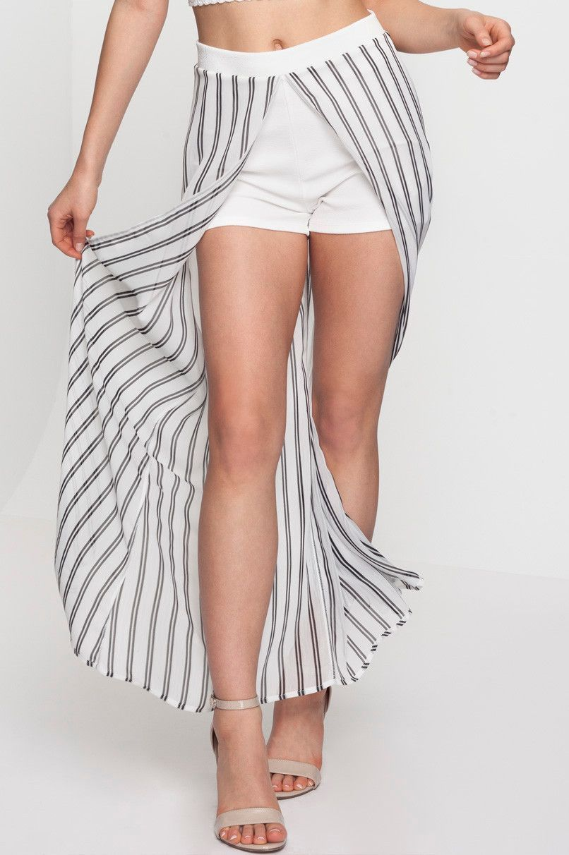 low priced c09b2 49656 Gonna Lunga a Righe con Pantaloncini | kajai | Gonne lunghe ...