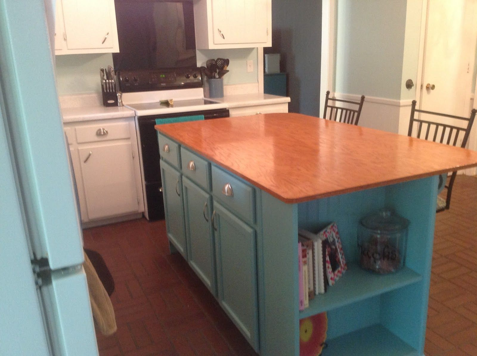 Ever since we moved into our house in May, I have wanted to add an island to our kitchen. Our kitchen had a very open floorplan, ...