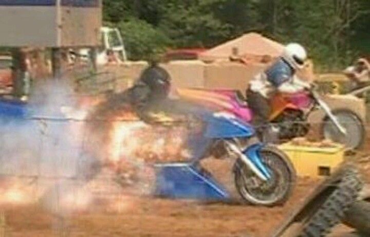 My Boyfriend Jesse on the far end, and BBF Todd with his Bike Blowing Up..