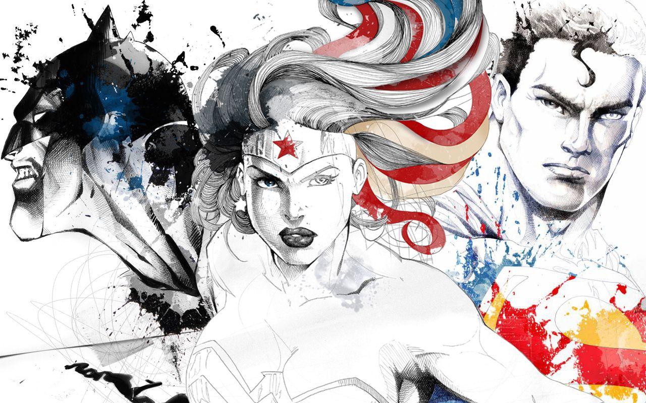 Batman Wonder Woman Superman Wallpaper Marvel Comics Wallpaper
