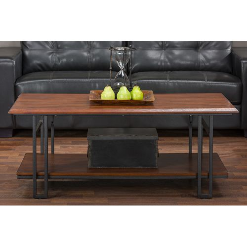 Baxton Studio Coffee Table In Wenge Brown Contemporary Coffee