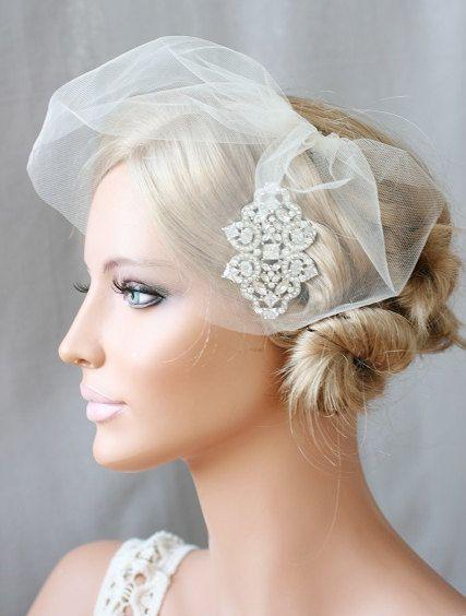 Mini Tulle Veil Birdcage Blusher Bridal Alena Ready