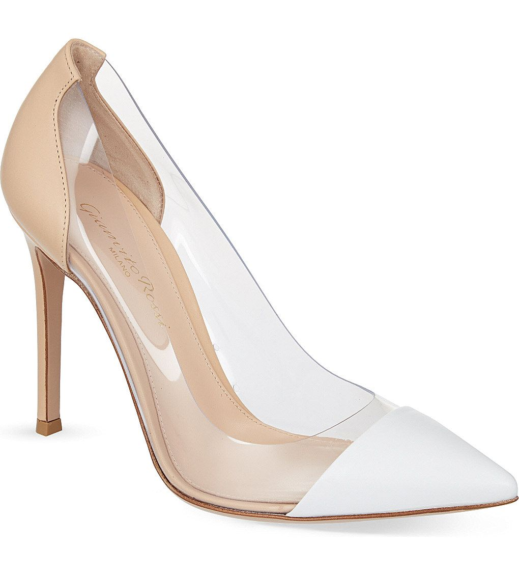 Bridal Shoes Selfridges: GIANVITO ROSSI Calabria Leather Courts
