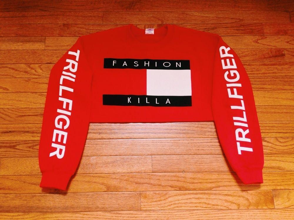 9c0ced72151c40 Image Of Fashion Killa X Trillfiger Crop Sweater White - Classy World
