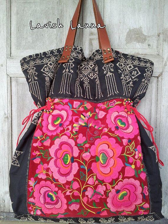Vintage Hmong/Miao handmade textile Tote