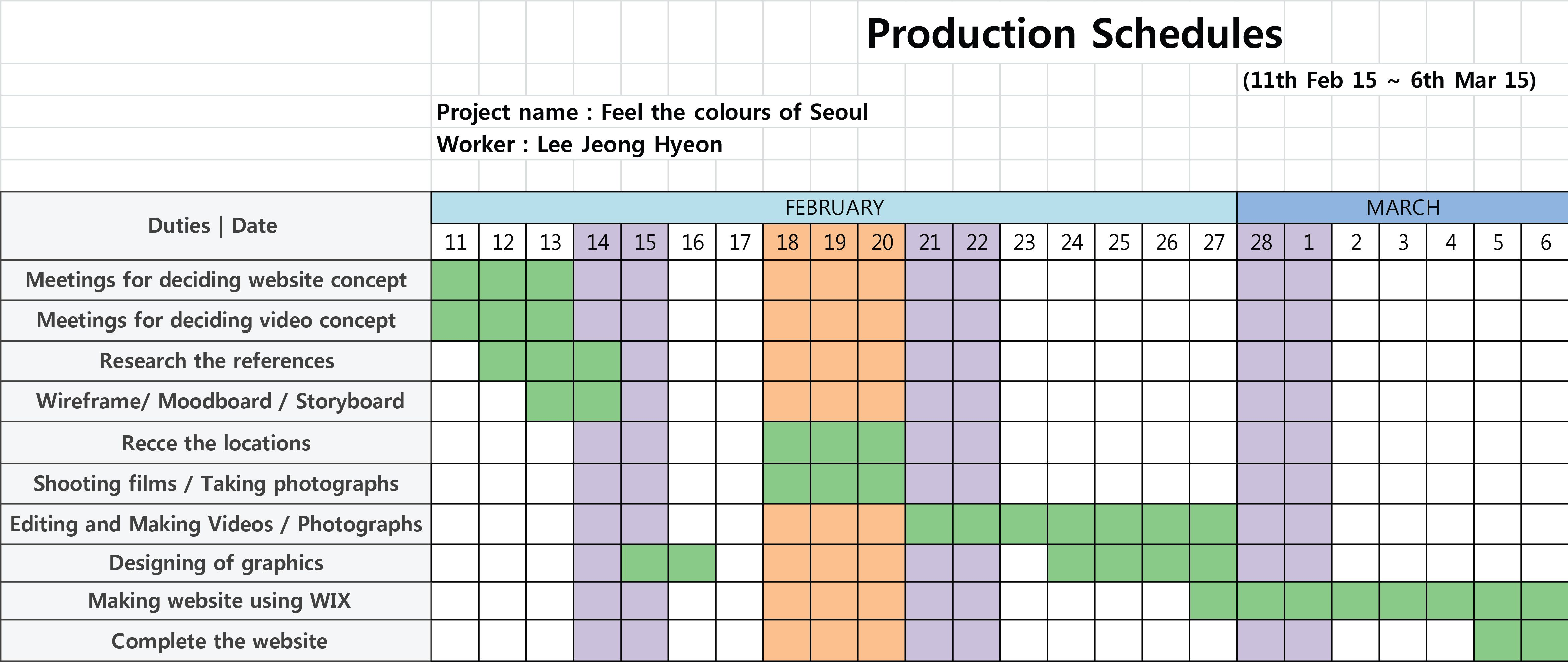 Bakery Production Schedule Template Excel Post Production Schedule