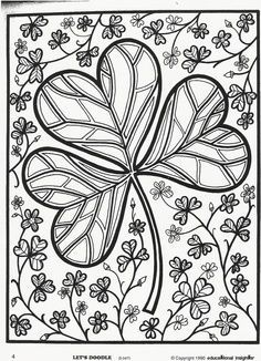 patricks day shamrock coloring page free educational insights printable from lets doodle book - Printable Shamrock Coloring Pages