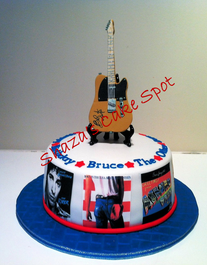 Cool Bruce Springsteen Themed Birthday Cake Themed Birthday Cakes Funny Birthday Cards Online Bapapcheapnameinfo
